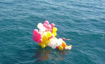 Balões no Mar