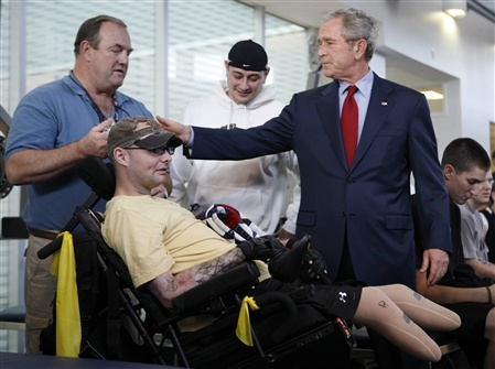Bush e um veterano de guerra
