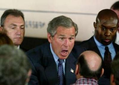 Bush não acredita na careca que vê
