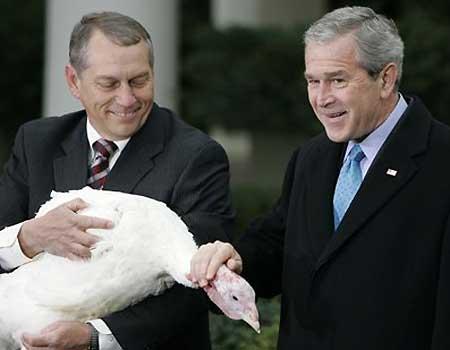 Bush não deixa o peru escapar