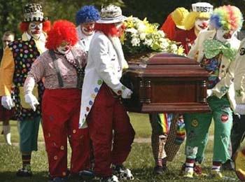 funeral palhaço