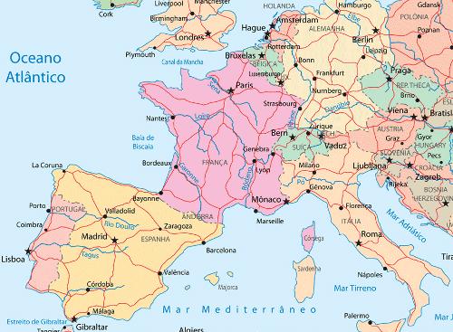 europa central mapa