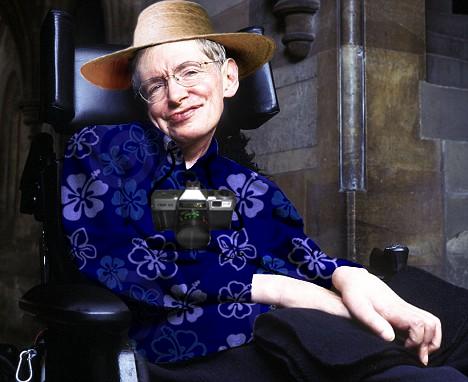 Stephen Hawking, um dos maiores físicos do mundo, turista.