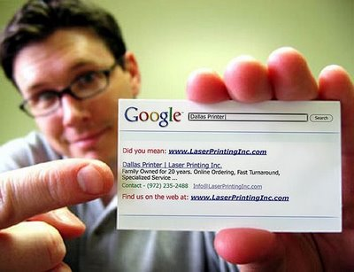 Google Search Engine Busniess Card