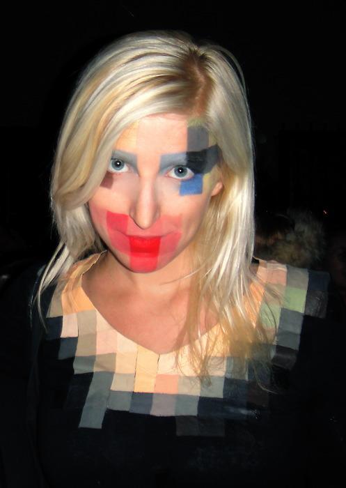 pixel face pixelada